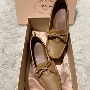 Prada Women's Saffiano Leather Driver Loafers